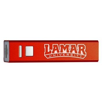 Lamar University - Portable Cell Phone 2600 mAh Power Bank Charger - Red