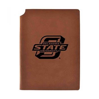 Oklahoma State University Velour Journal with Pen Holder|Carbon Etched|Officially Licensed Collegiate Journal|