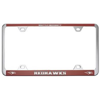 Seattle University -Metal License Plate Frame-Red