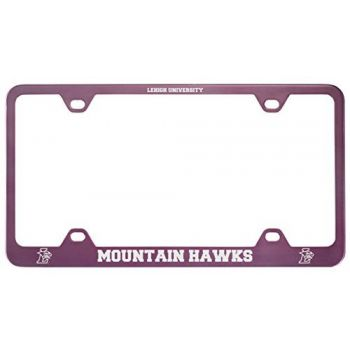 Lehigh University-Metal License Plate Frame-Pink