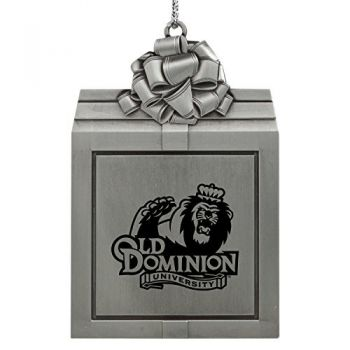 Old Dominion University -Pewter Christmas Holiday Present Ornament-Silver