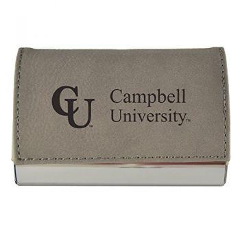 Velour Business Cardholder-Campbell University-Grey