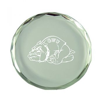 Gardner-Webb University-Crystal Paper Weight