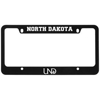 University of North Dakota-Metal License Plate Frame-Black