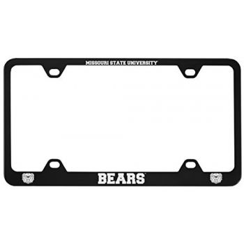 Missouri State University -Metal License Plate Frame-Black