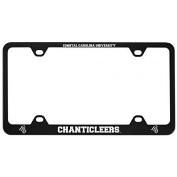 Coastal Carolina University -Metal License Plate Frame-Black