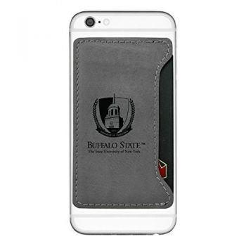 Buffalo State University - The State Universtiy of New York-Cell Phone Card Holder-Grey
