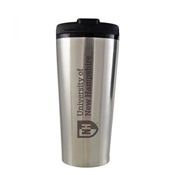 University of New Hampshire -16 oz. Travel Mug Tumbler-Silver
