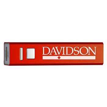 Davidson College - Portable Cell Phone 2600 mAh Power Bank Charger - Red