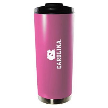 University of North Carolina at Chapel Hill-16oz. Stainless Steel Vacuum Insulated Travel Mug Tumbler-Pink