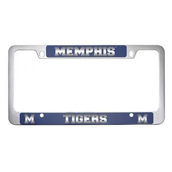 University of Memphis-Metal License Plate Frame-Blue