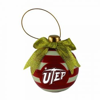 The University of Texas at El Paso -Christmas Bulb Ornament