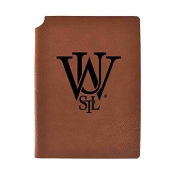 Washington University in St. Louis Velour Journal with Pen Holder|Carbon Etched|Officially Licensed Collegiate Journal|