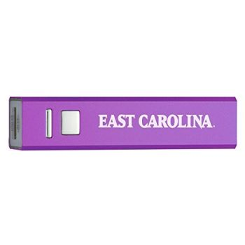 East Carolina University - Portable Cell Phone 2600 mAh Power Bank Charger - Purple