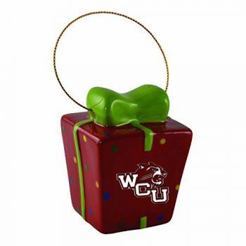 Western Carolina University-3D Ceramic Gift Box Ornament
