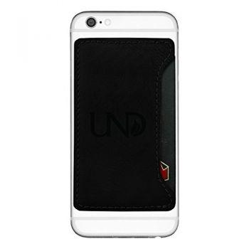 University of North Dakota-Cell Phone Card Holder-Black