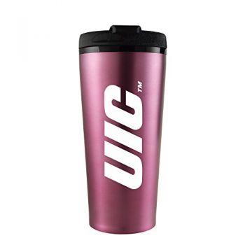 University of Illinois at Chicago-16 oz. Travel Mug Tumbler-Pink