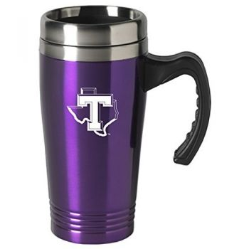 Tarleton State University-16 oz. Stainless Steel Mug-Purple
