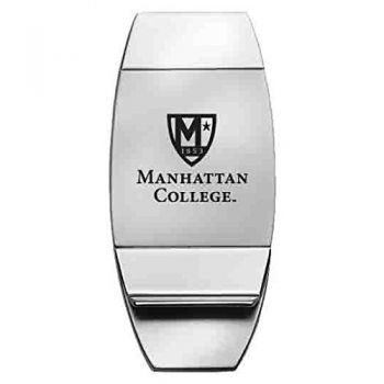 Manhattan College - Two-Toned Money Clip - Silver