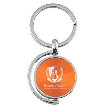 Buffalo State, State University of New York - Spinner Key Tag - Orange