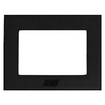 Sacred Heart University-Velour Picture Frame 4x6-Black