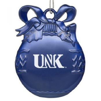 University of Nebraska - Kearney - Pewter Christmas Tree Ornament - Blue