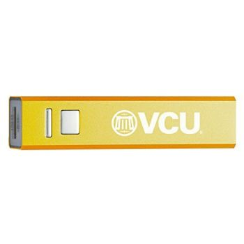 Virginia Commonwealth University - Portable Cell Phone 2600 mAh Power Bank Charger - Gold