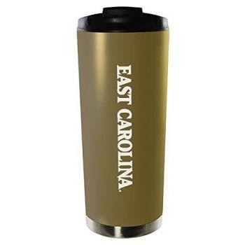 East Carolina University-16oz. Stainless Steel Vacuum Insulated Travel Mug Tumbler-Gold