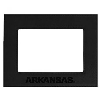 University of Arkansas-Velour Picture Frame 4x6-Black
