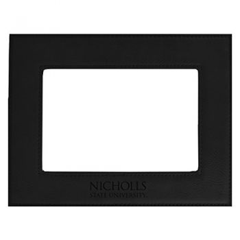 Nicholls State University-Velour Picture Frame 4x6-Black