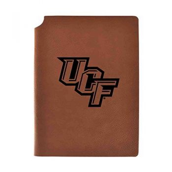 University of Central Florida Velour Journal with Pen Holder|Carbon Etched|Officially Licensed Collegiate Journal|