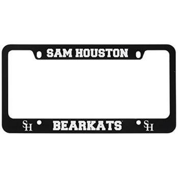 Sam Houston State University -Metal License Plate Frame-Black