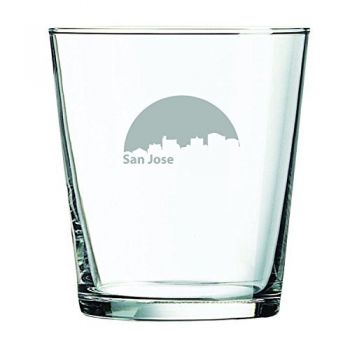 13 oz Cocktail Glass - San Jose City Skyline