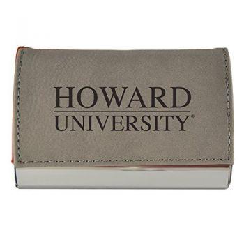 Velour Business Cardholder-Howard University-Grey