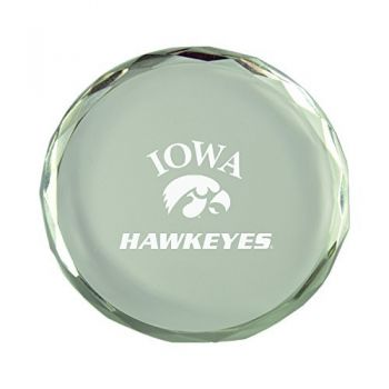 University of Iowa-Crystal Paper Weight