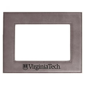 Virginia Tech-Velour Picture Frame 4x6-Grey