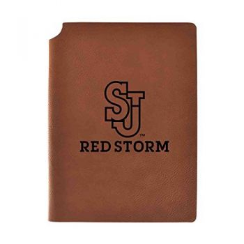 St. John's University Velour Journal with Pen Holder|Carbon Etched|Officially Licensed Collegiate Journal|