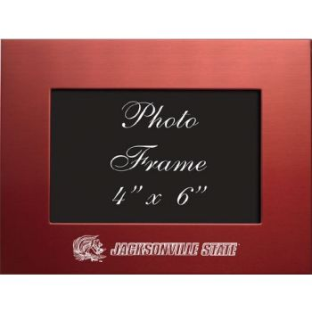 Jacksonville State University - 4x6 Brushed Metal Picture Frame - Red