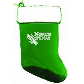 University of North Texas - Chirstmas Holiday Stocking Ornament - Green