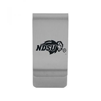 North Dakota State University|Money Clip with Contemporary Metals Finish|Solid Brass|High Tension Clip to Securely Hold Cash, Cards and ID's|Gold