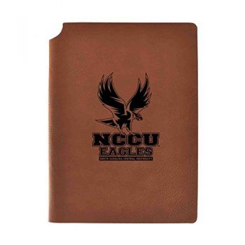 North Carolina Central University Velour Journal with Pen Holder|Carbon Etched|Officially Licensed Collegiate Journal|