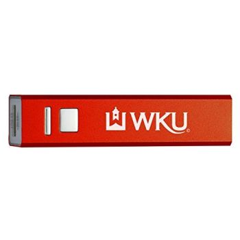 Western Kentucky University - Portable Cell Phone 2600 mAh Power Bank Charger - Red