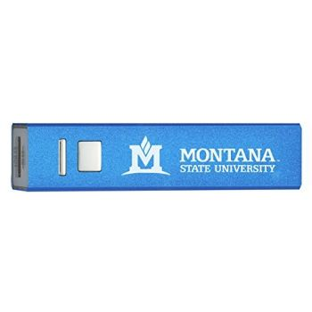 Montana State University - Portable Cell Phone 2600 mAh Power Bank Charger - Blue