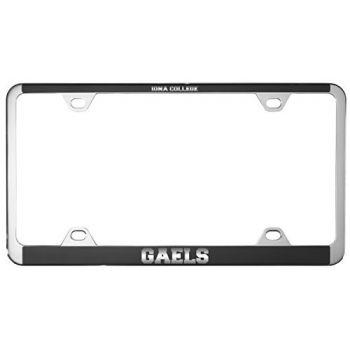 Iona College-Metal License Plate Frame-Black