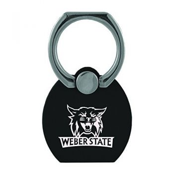 Weber State University|Multi-Functional Phone Stand Tech Ring|Black