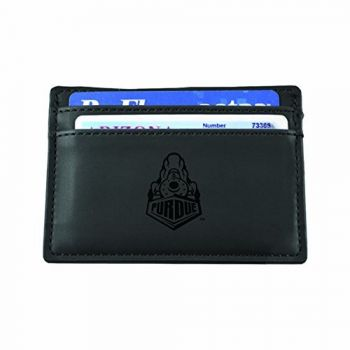 Purdue University-European Money Clip Wallet-Black