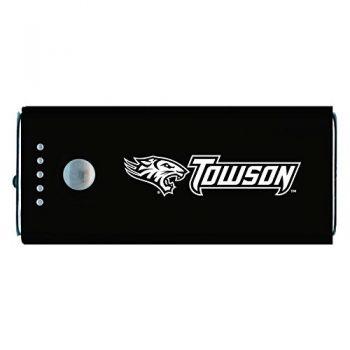 Towson University -Portable Cell Phone 5200 mAh Power Bank Charger -Black