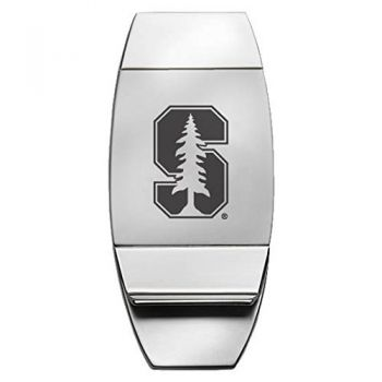 Stanford University - Two-Toned Money Clip - Silver