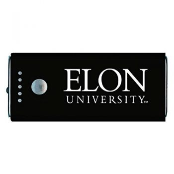 Elon University -Portable Cell Phone 5200 mAh Power Bank Charger -Black
