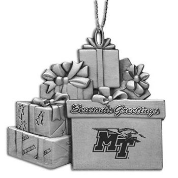 Middle Tennessee State University - Pewter Gift Package Ornament